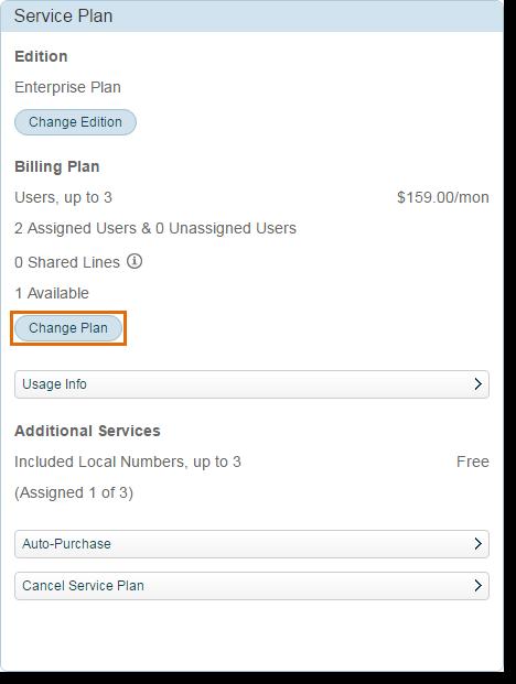 Click Change plan.
