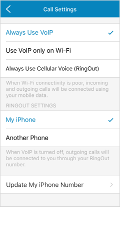 iOS Version 8.3 screen