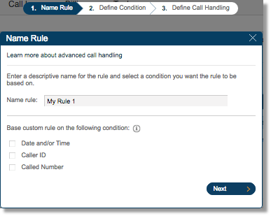 Set a name for the rule, select Base Custom rule and click Next to proceed.