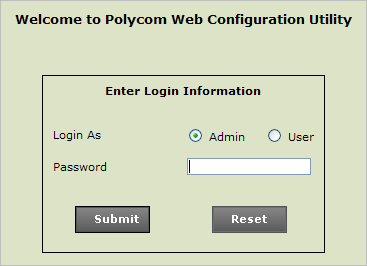Log in as Admin to the phone's web user interface