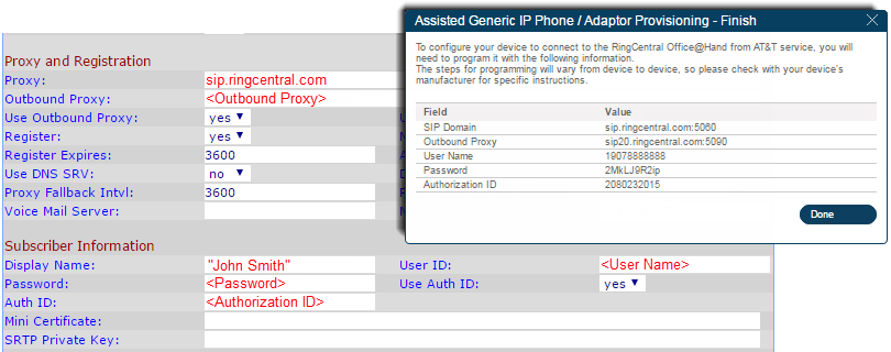 Look for Proxy and Registration and configure the settings.