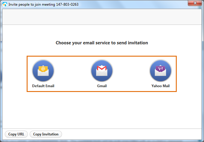 Choose ryour email service to send invitation.