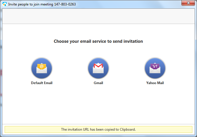 Chose your email service to send invitation.