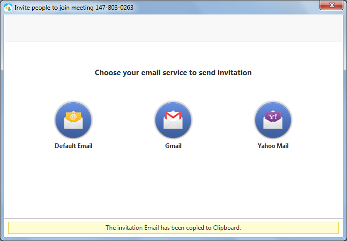 Choose your email service to send invitation