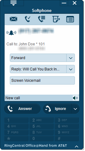 Image of softphone features