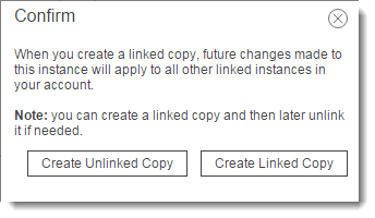 A prompt shows up asking if we'd like to link the menus. Since both Sales call queues needs to be directly identical, we'll click Create Linked Copy.