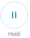 The Hold button puts the other party on hold.
