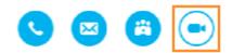 Skype business contact menu on app