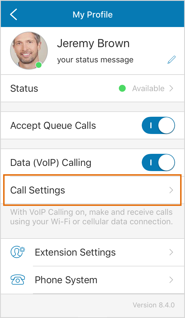 Tap Call Settings.