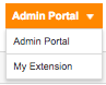 On upper right corner, switch to Admin Portal view.