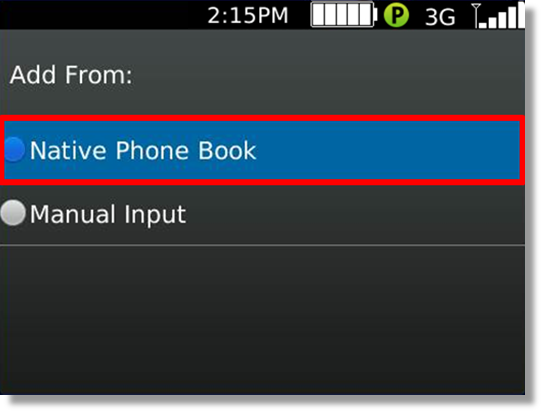 add contact from address book in at t enhanced push to talk for