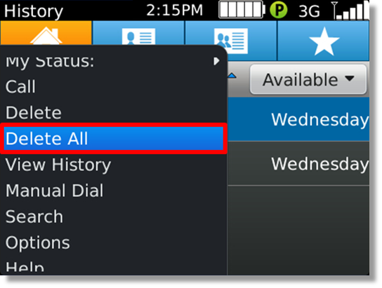 Delete All History In AT&T Enhanced Push-to-Talk For