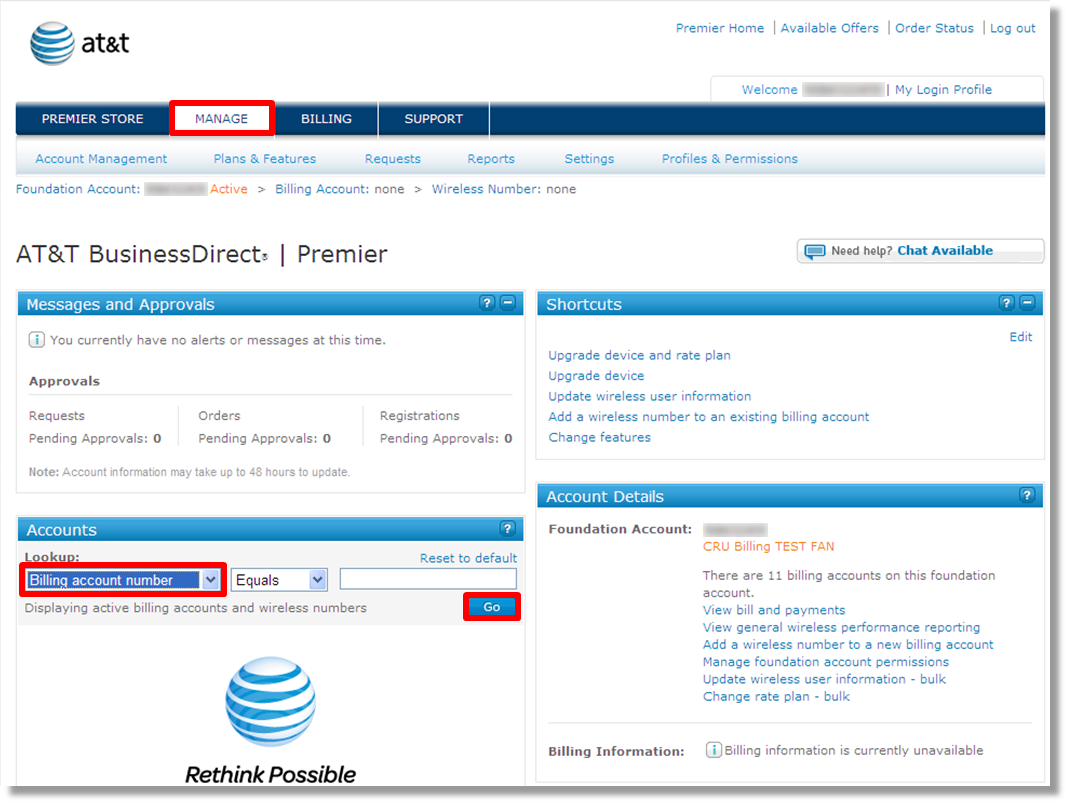 Initial set up of AT&T OfficeDirect Mobile istant using AT&T ...