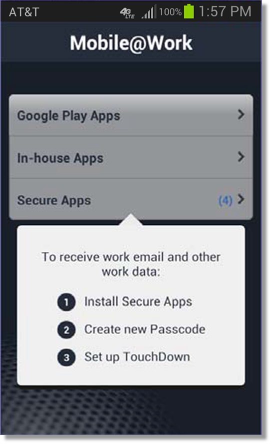 Provisioning and installing MobileIron for Android devices