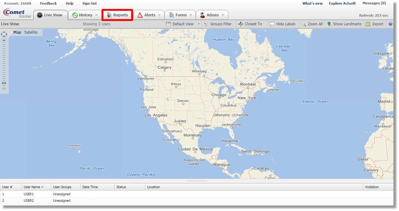 Schedule A GPS History Report With Actsoft Comet Tracker From ATT - Chicago map gps