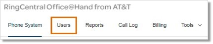 Go to the Phone System section on the Admin Portal.