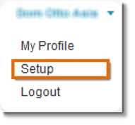 Click your name, and select Setup.