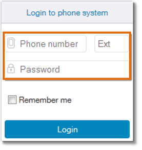 Enter your AT&T Office@Hand login credentials in the corresponding fields.