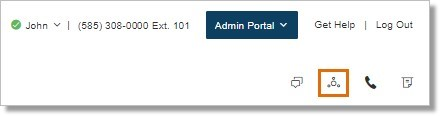 On your AT&T Office@Hand Online account, click the Conference icon.