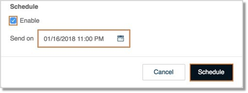 You may also enable Schedule and set the Send on details to send the fax later and click Schedule.