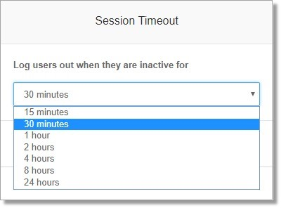 Set the session timeout of your online account, click Save to apply your custom session timeout.