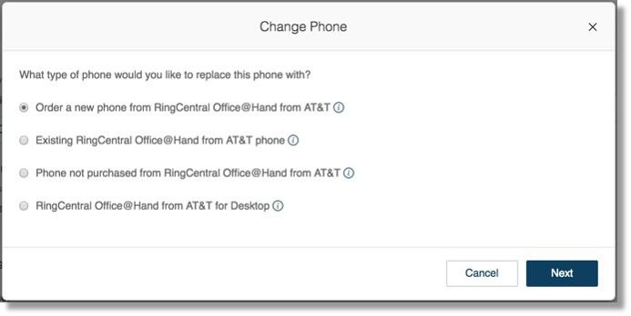 Change phone