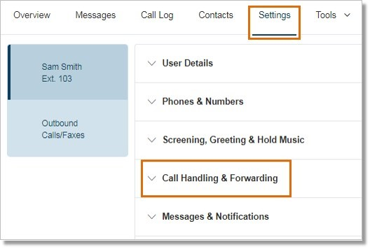 Go to Settings > Call Handling and Forwarding.