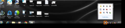 Click Show hidden icons.