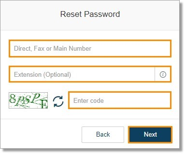 Enter your information and the code then click Next.