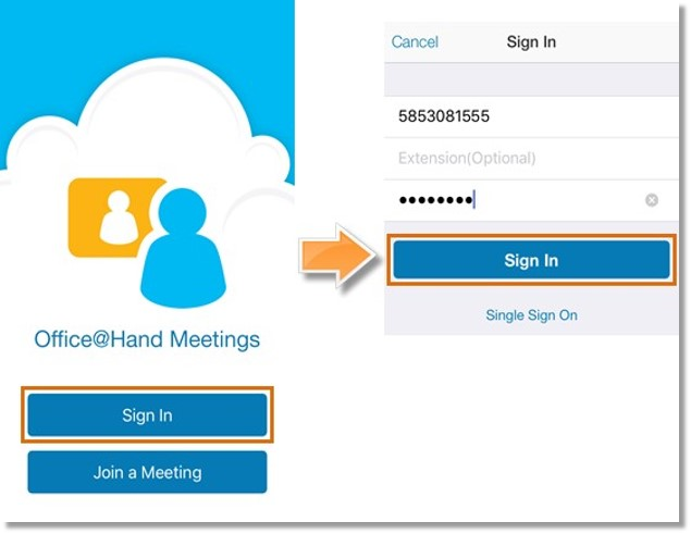 Log in to your AT&T Office@Hand account.