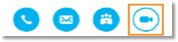 Click the Initiate Office@Hand Meetings icon from the Skype for Business contact menu.