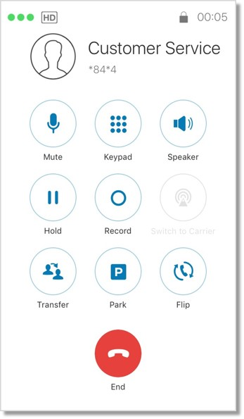 Paging call screen image