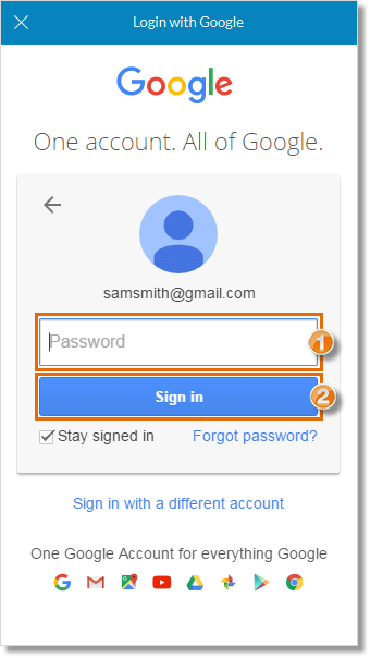 Enter the password and click Sign In.