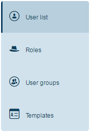 User list automatically displayed by default.