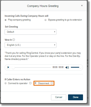 Officehand setting up your officehand company greeting 2587 asecare select this option if you want to disconnect the caller after the greeting repeats three times m4hsunfo