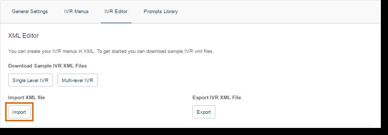 Under Import XML file, click the Import button.