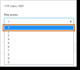 Select a Key press from the drop-down menu.