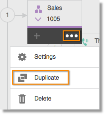 Hover over the Sales IVR menu and click ... then Duplicate.