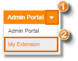 If you are logged in as an Administrator, you may click on the drop-down arrow and select My Extension before clicking on Settings > User Details.