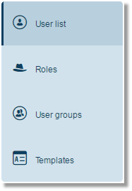 The User list is automatically displayed by default.
