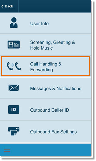 Tap Call Handling & Forwarding.
