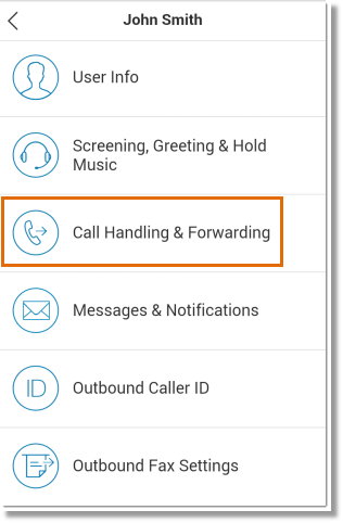Tap Call Handling & Forwarding.