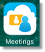Launch the meetings app on your mobile device.