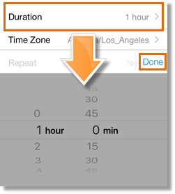 Tap Duration.
