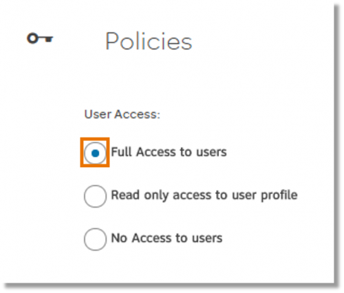 Select permissions for users