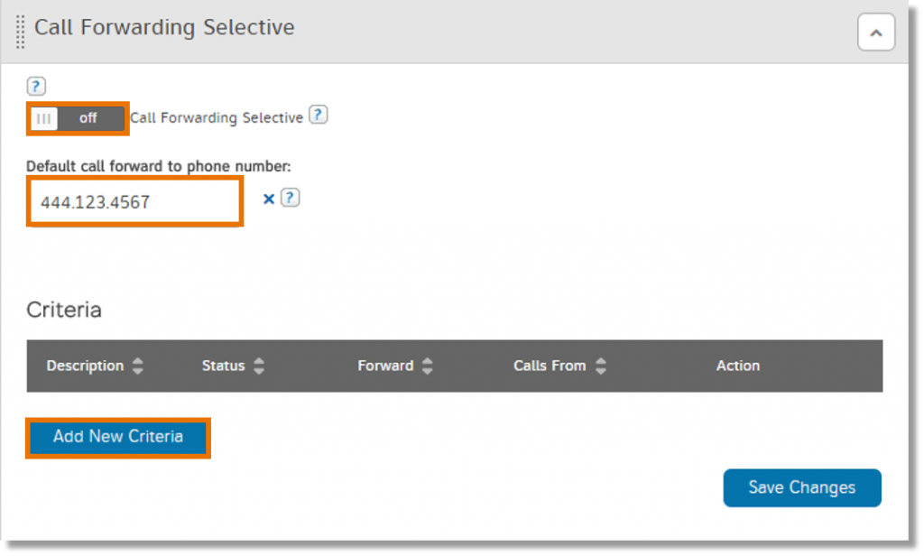 To add more settings, click Add New Criteria.