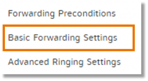 Click Basic Forwarding Settings