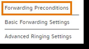 click Forwarding Preconditions