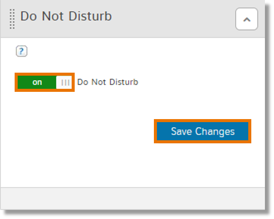 Slide the button to on and click Save Changes
