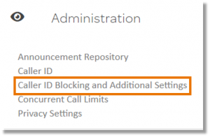 Click Caller ID Blocking and Additional Details